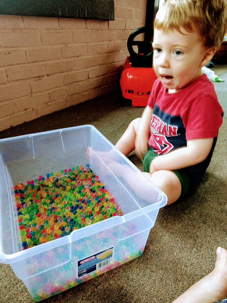 Non Verbal Toddler Sensory Play